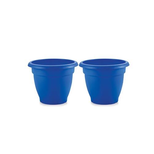 Indoor & Outdoor Gardening Plastic Flower Pot, Pack of 2