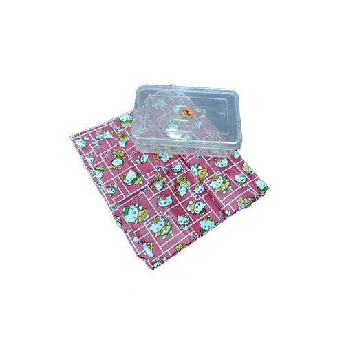 Soft Pure Rubber Hai Kitty Pink Printed, Baby Sheet Bed Protector Waterproof Mattress Protector Cot Sheet