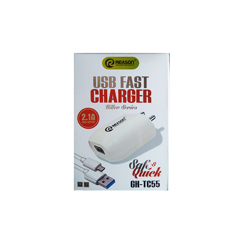 Reason USB Fast Charger Killer Series, 2.1A Max Output, Safe & Quick GH-TC55, Mobile Charger