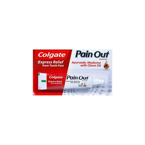 Colgate Pain Out Dental Gel, Express Relief from Tooth Pain, Ayurvedic Medicine with Clove Oil, 10ml