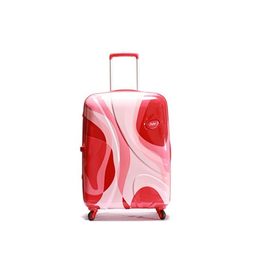 Skybags DIO High Grain Polycarbonate 69 cm Hardsided Luggage - Red