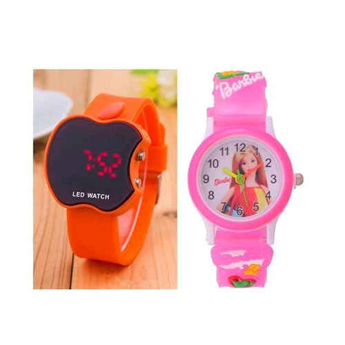 BHP00728, Free Mask Comfy Trendy Rubber Digital Kid'S Watches Combo Vol 15